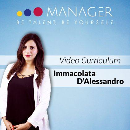 Video curriculum di Immacolata D'Alessandro