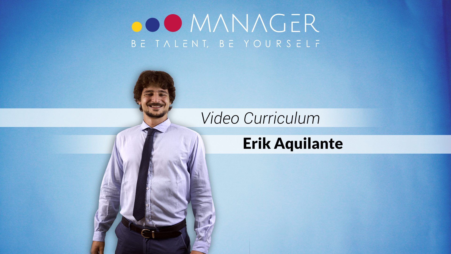 Video Curriculum di Erik Aquilante