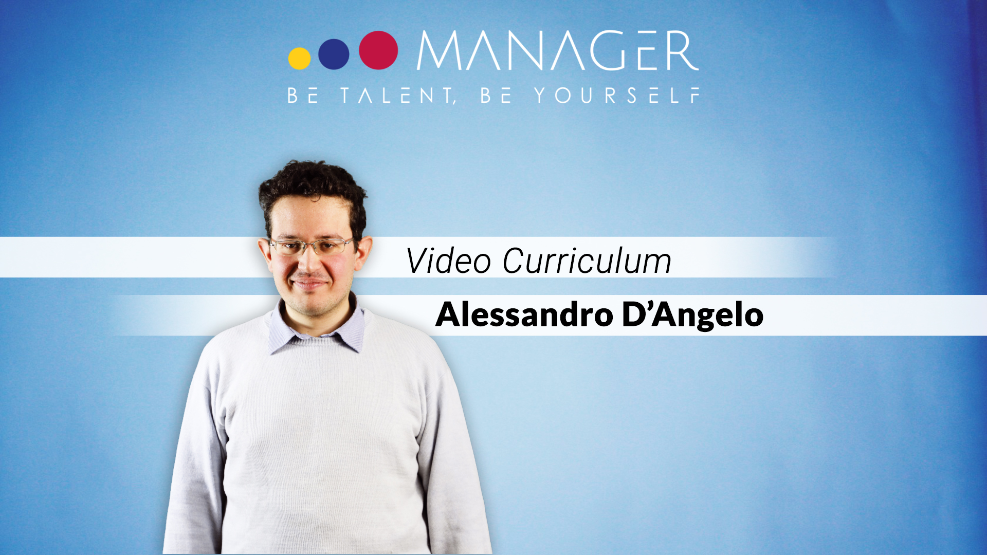 video curriculum Alessandro D'Angelo