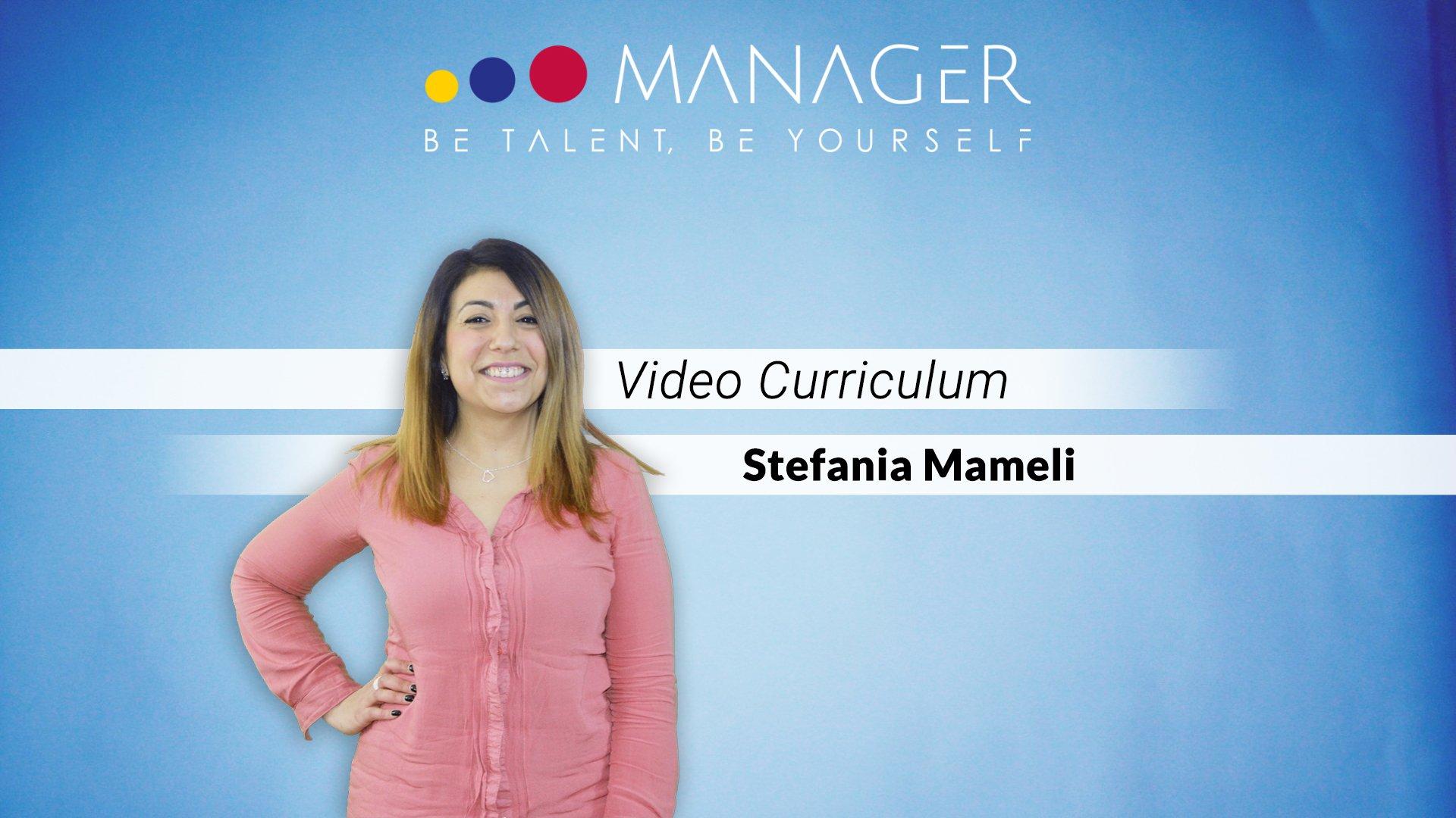 video curriculum stefania mameli