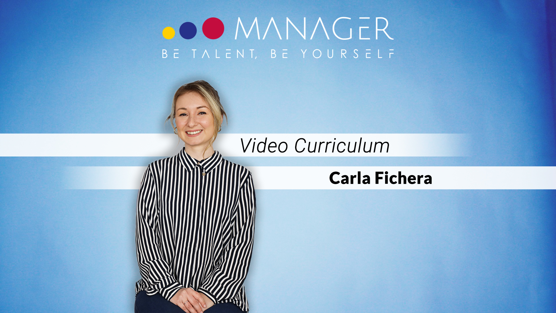 video curriculum carla fichera