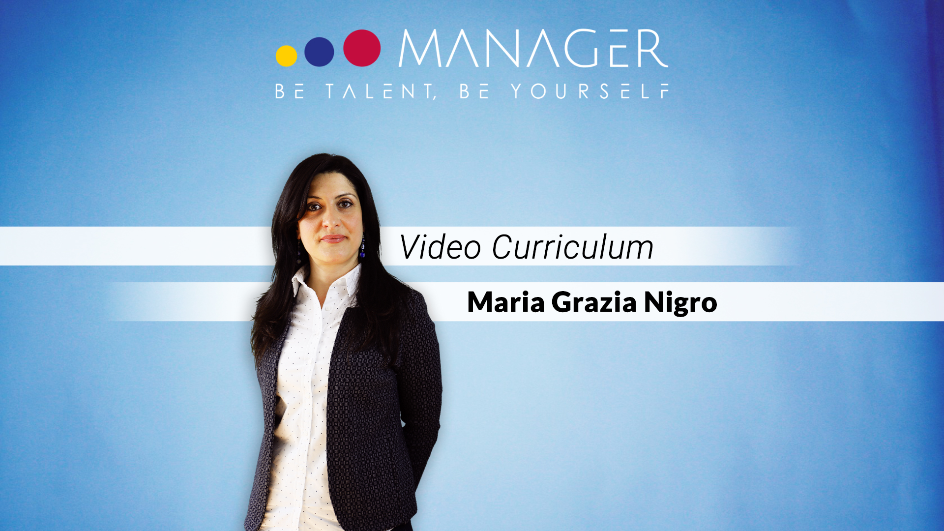 video curriculum maria grazia nigro