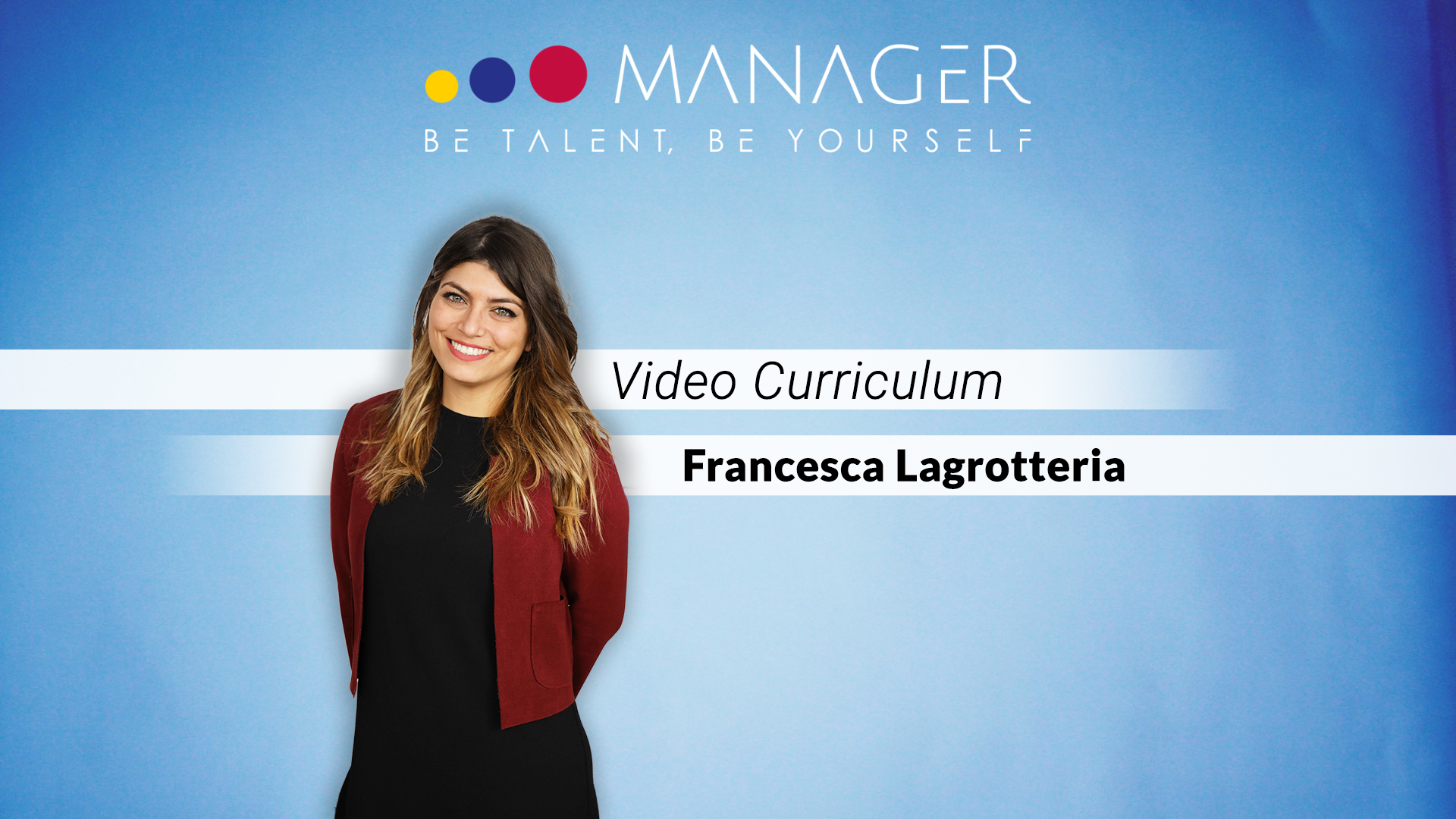 video curriculum francesca lagrotteria