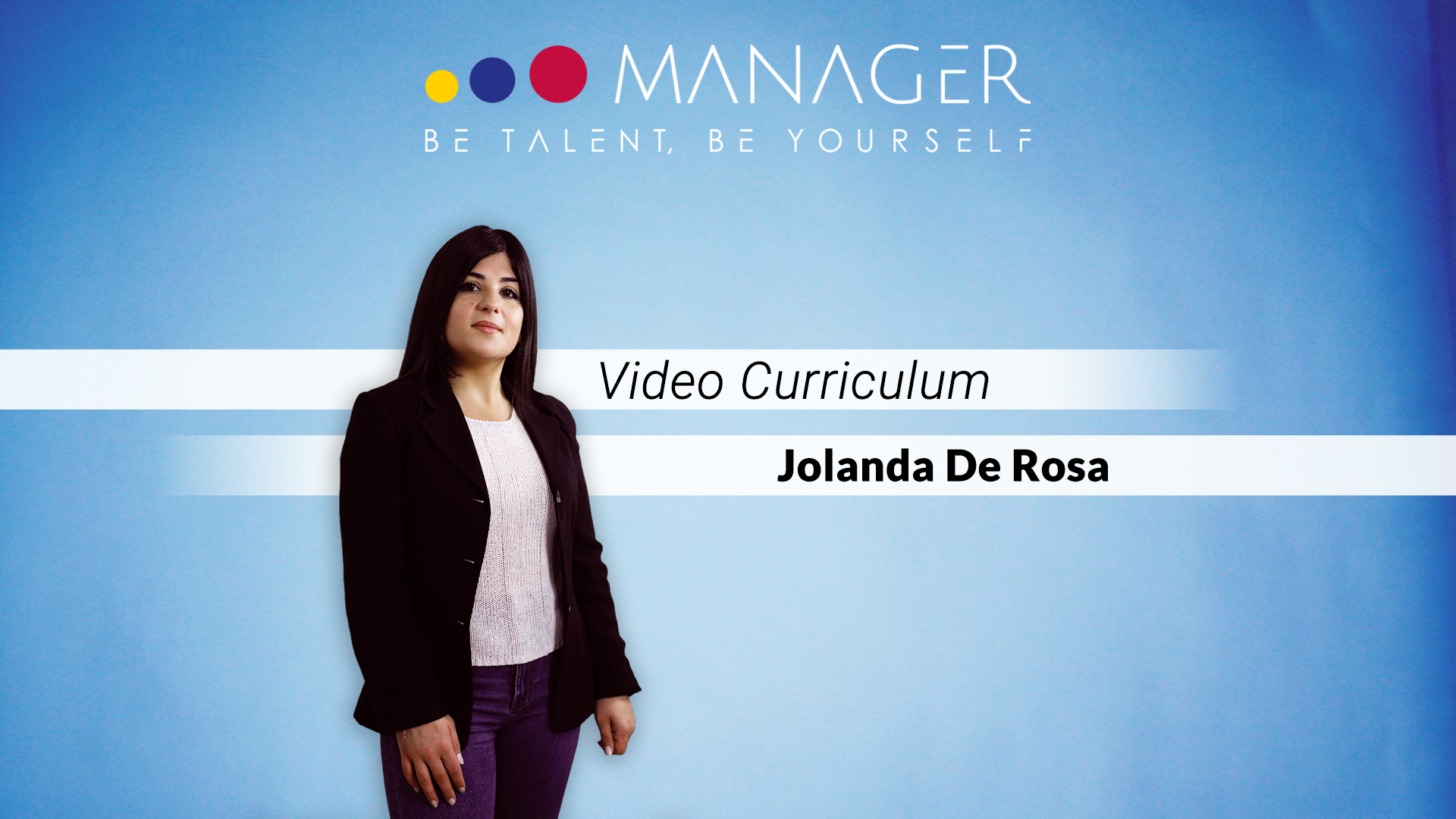 video curriculum jolanda de rosa