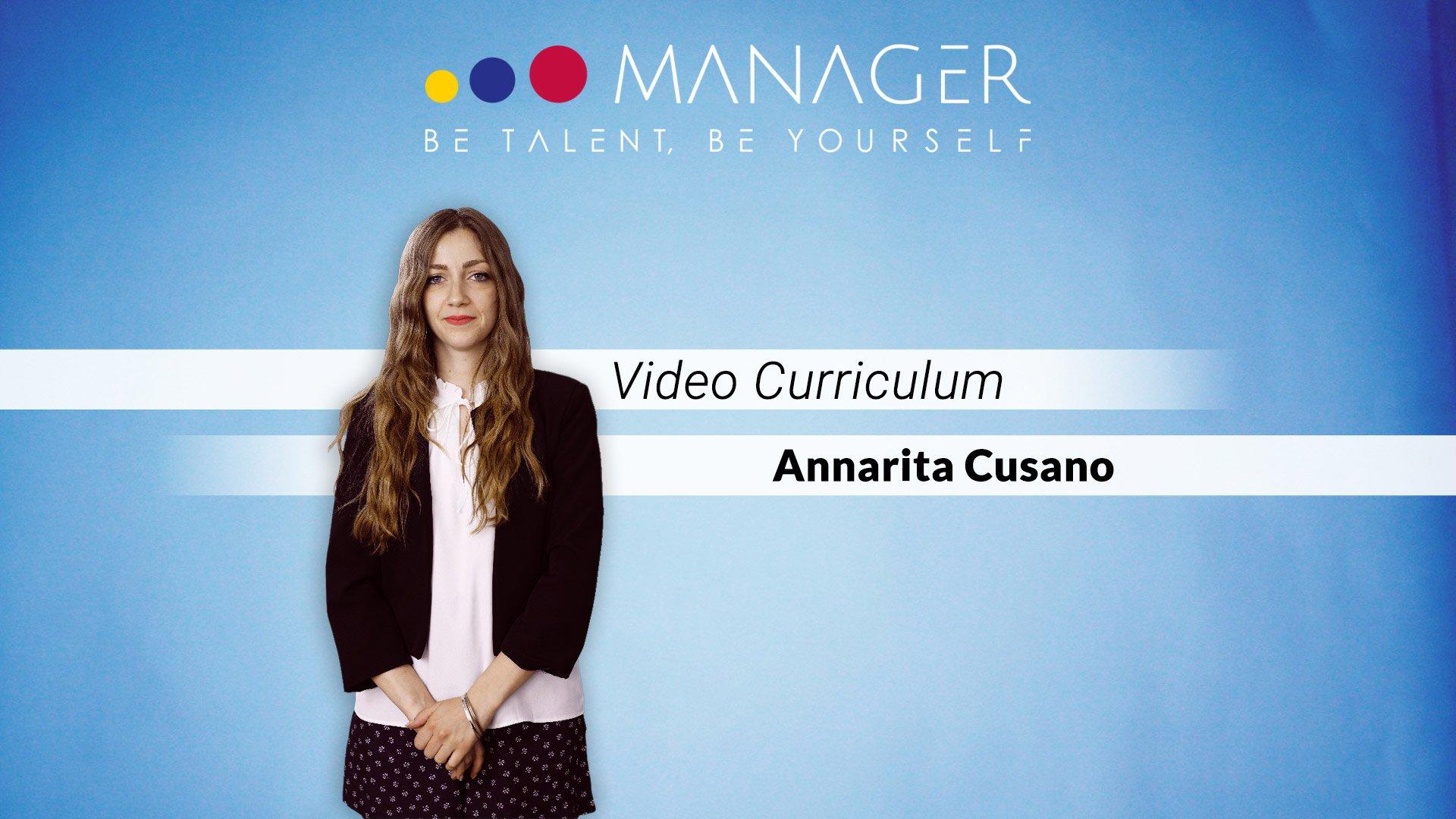 video curriculum annarita cusano