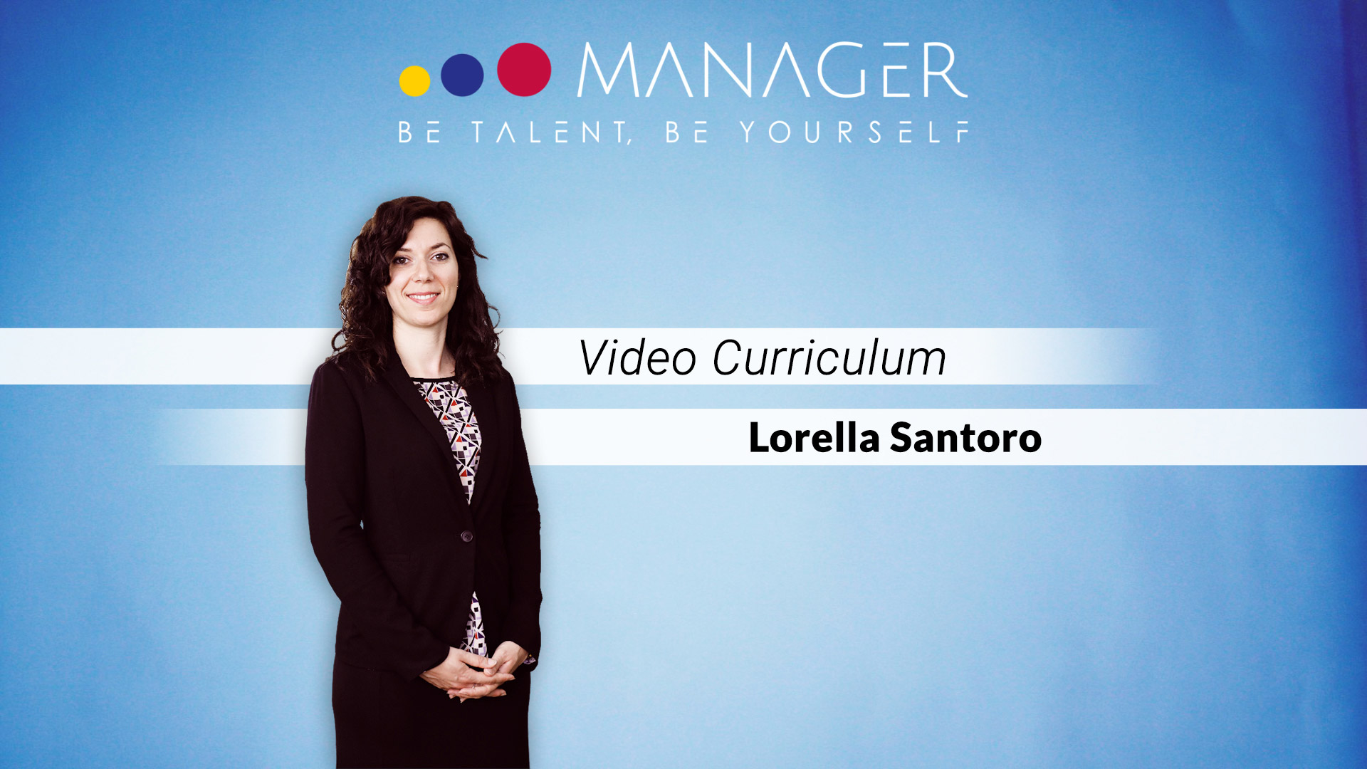video curriculum lorella santoro