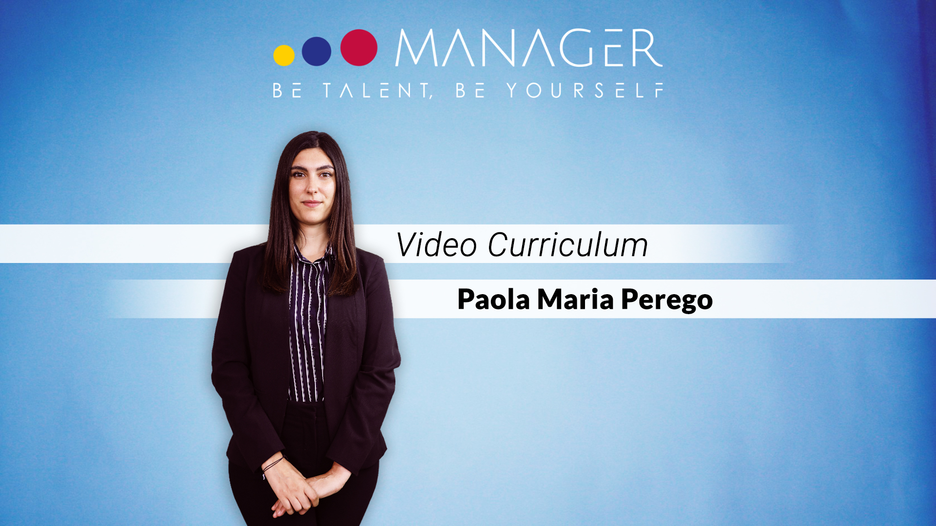 video curriculum paola maria perego